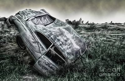 Painting - Auto Graveyard by Gregory Dyer