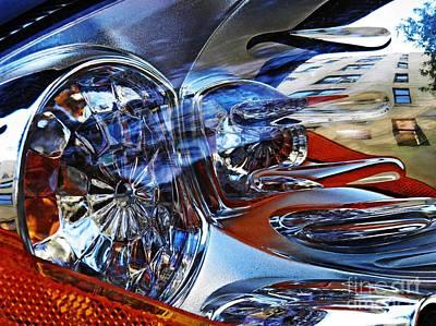 Auto Headlight 127 Art Print by Sarah Loft