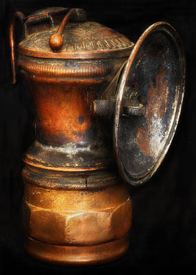 Gas Lamp Photograph - Auto-lite Miner's Lamp by Larry Helms