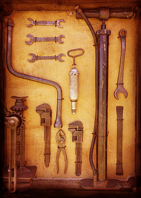 Photograph - Auto Mechanic Vintage Tools by Ann Powell