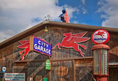 Photograph - Auto Repair At The City Garage by David and Carol Kelly