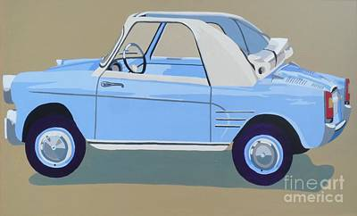 Cabriolet Painting - Autobianchi by Nicky Leigh