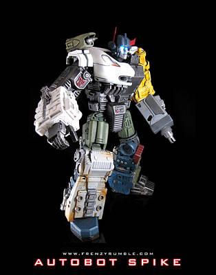 Seeker Mixed Media - Autobot Spike by Frenzyrumble