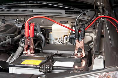 Automobile Battery Charging Art Print by Joe Belanger