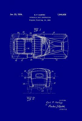 Automobile Body Construction Patent 1934 Art Print by Mountain Dreams