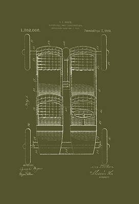 Automobile Body Patent 1920 Art Print by Mountain Dreams
