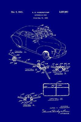 Automobile Body Patent 1941 Art Print by Mountain Dreams
