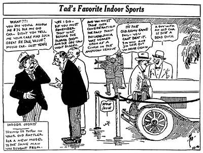Automobile Cartoon, 1922 Art Print
