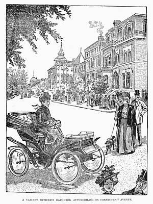 Washington D.c Drawing - Automobile Driver, 1902 by Granger