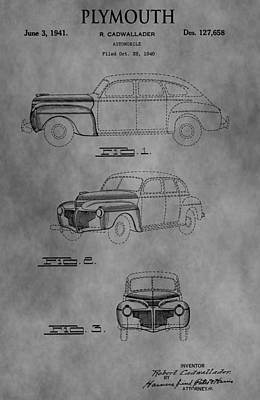 Plymouth Digital Art - Automobile Patent by Dan Sproul