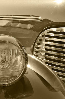 Photograph - Automotive Steel And Glass by Gary Silverstein