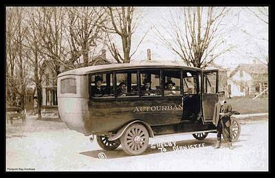 Autourban Bus Shelby And Manistee Old Time Michigan State  Art Print by Pierpont Bay Archives