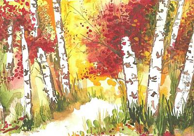 Newton Painting - Autumn. 1 Of 2 by Debralyn Skidmore