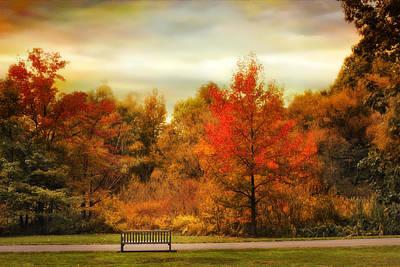 Autumn Ablaze Art Print by Jessica Jenney