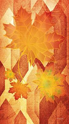 Digital Art - Autumn Abstract 2014 by Maria Urso