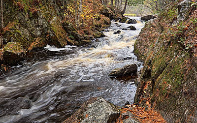 Photograph - Autumn Afternoon At Smalley Falls by Theo OConnor