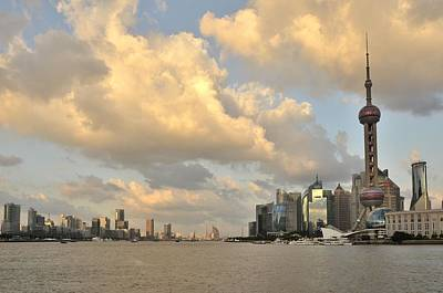 Jia Lu Photograph - Autumn Afternoon Clouds In Shanghai by Yinguo Huang