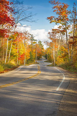 Autumn Afternoon On The Winding Road Art Print