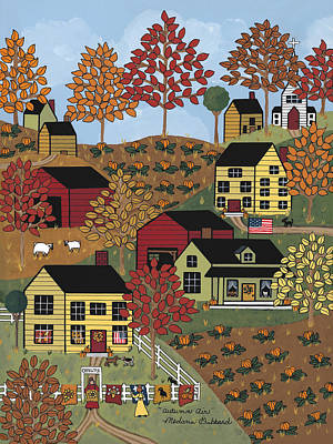 Quilts Painting - Autumn Air by Medana Gabbard