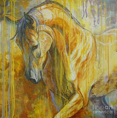 Bay Horse Painting - Autumn Air by Silvana Gabudean Dobre