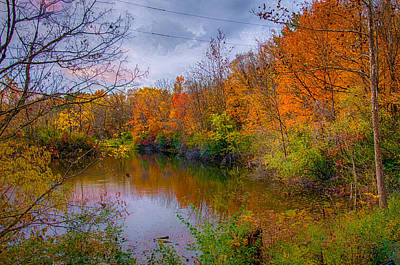 Photograph - Autumn Along The Banks by Gene Sherrill