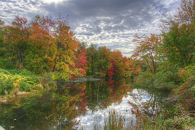 Fall Photograph - Autumn Along The River by Donna Doherty