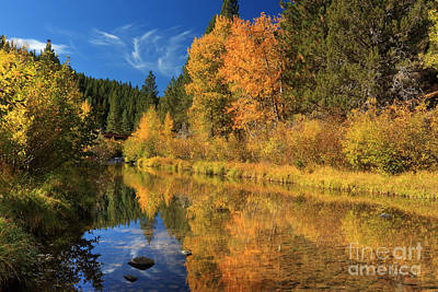 Clouds Rights Managed Images - Autumn Along The Susan River Royalty-Free Image by James Eddy