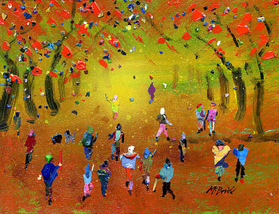 Gathering Painting - Autumn Amble by Neil McBride