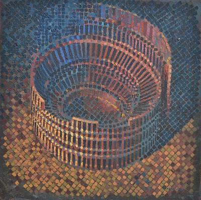 Art Print featuring the painting Autumn Amphitheatre by Mark Howard Jones