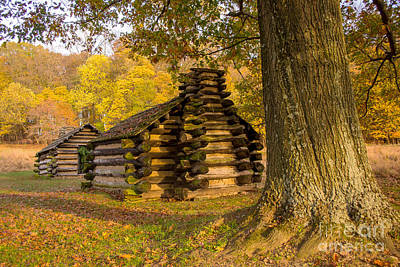 Photograph - Autumn And The Huts At Valley Forge by Rima Biswas