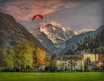 Photograph - Autumn And The Jungfrau by Hanny Heim