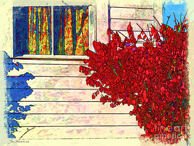 Photograph - Autumn And The Window by Joan  Minchak