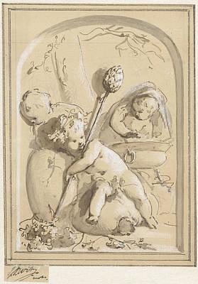 Autumn Art Drawing - Autumn And Winter, Jacob De Wit by Quint Lox