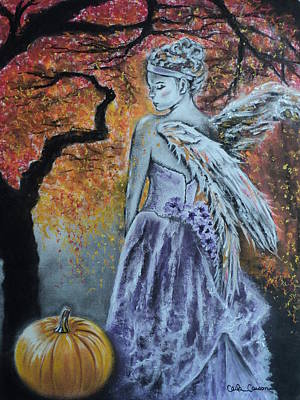 Drawing - Autumn Angel by Carla Carson