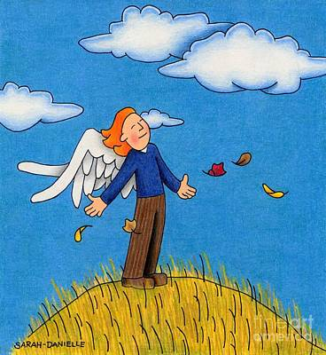 Seasonal Drawing - Autumn Angel by Sarah Batalka
