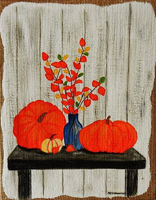Painting - Autumn Arrangement by Celeste Manning