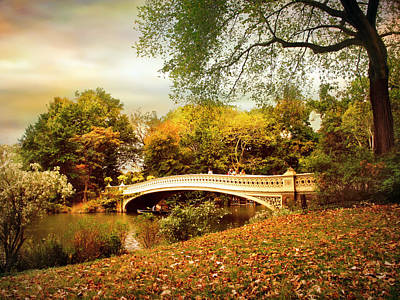 Photograph - Autumn Arrives At Bow Bridge by Jessica Jenney