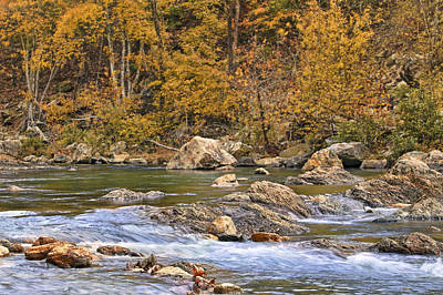 Photograph - Autumn At Albert Pike Campground - Little Missouri River - Arkansas  by Jason Politte