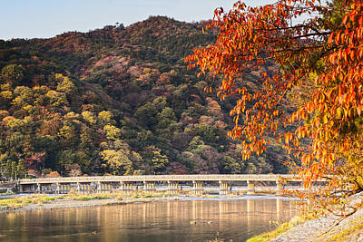 Photograph - Autumn At Arashiyama Kyoto Japan by Colin and Linda McKie