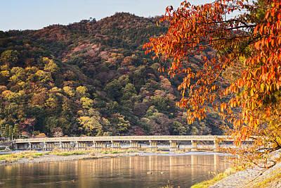 Katsura Wall Art - Photograph - Autumn At Arashiyama Kyoto Japan by Colin and Linda McKie