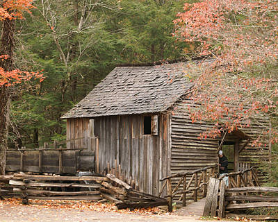 Amish Photograph - Autumn At Cable Mill by TnBackroadsPhotos