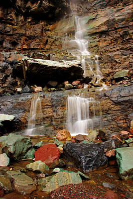 Photograph - Autumn At Cascade Falls No.2 by Daniel Woodrum