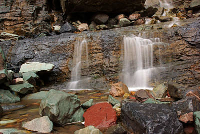 Photograph - Autumn At Cascade Falls No.3 by Daniel Woodrum