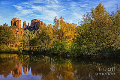 Cathedral Rock Wall Art - Photograph - Autumn At Cathedral Rock by Medicine Tree Studios