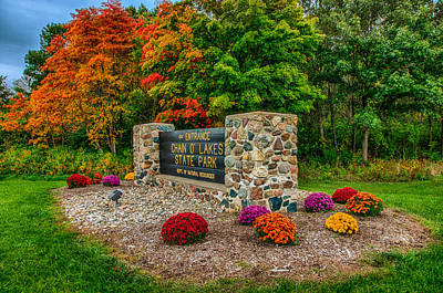 Autumn At Chain O'lakes State Park Art Print by Gene Sherrill