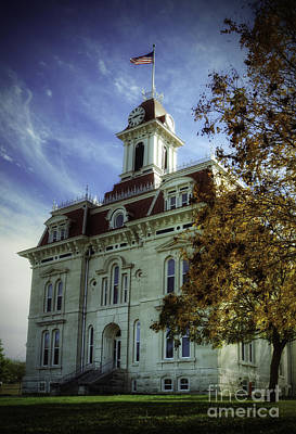 Photograph - Autumn At Chase County Courthouse by Fred Lassmann