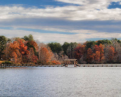 Chickasaw Photograph - Autumn At Chickasaw - Lake Scene by Jai Johnson