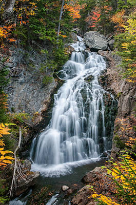 Photograph - Autumn At Crystal Cascades - New Hampshire  by Expressive Landscapes Fine Art Photography by Thom