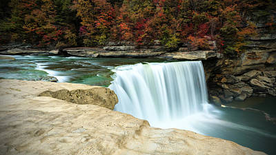 Autumn At Cumberland Falls Art Print by Jaki Miller