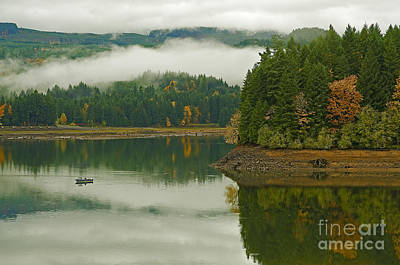 Art Print featuring the photograph Autumn At Foster Lake by Nick  Boren